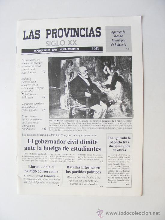LAS PROVINCIAS XX, ANUARIO DE VALENCIA 1903 (Coleccionismo - Revistas y Periódicos Modernos (a partir de 1.940) - Otros)