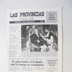 Coleccionismo de Revistas y Periódicos: LAS PROVINCIAS XX, ANUARIO DE VALENCIA 1903. Lote 28594948