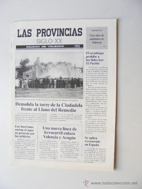 LAS PROVINCIAS XX, ANUARIO DE VALENCIA 1901 (Coleccionismo - Revistas y Periódicos Modernos (a partir de 1.940) - Otros)