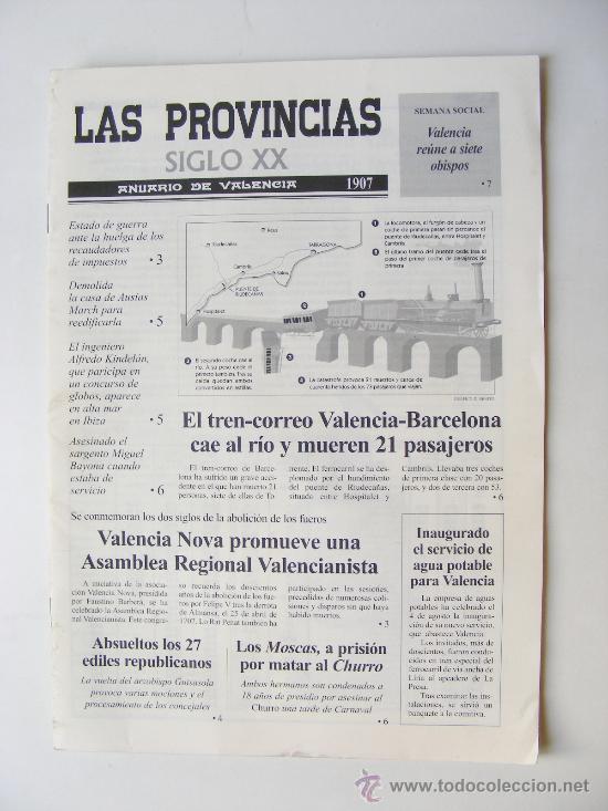 LAS PROVINCIAS XX, ANUARIO DE VALENCIA 1907 (Coleccionismo - Revistas y Periódicos Modernos (a partir de 1.940) - Otros)
