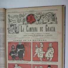 Coleccionismo de Revistas y Periódicos: LA CAMPANA DE GRACIA - TOMO ENCUADERNADO CON UN SURTIDO DE 68 NUMEROS DE LOS AÑOS 1923 AL 1925.. Lote 28641028