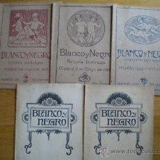 Coleccionismo de Revistas y Periódicos: 5 REVISTAS BLANCO Y NEGRO AÑOS 1913-1915. Lote 28631106
