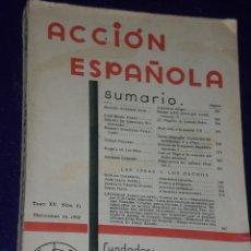 Coleccionismo de Revistas y Periódicos: ACCION ESPAÑOLA. TOMO XV. NUMERO 81. NOVIEMBRE DE 1935. . Lote 28635534