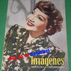 Coleccionismo de Revistas y Periódicos: IMAGENES REVISTA DE CINEMATOGRAFIA 30/1947 CLAUDETTE COLBERT~ERROL FLYNN~BORIS KARLOFF~ELLA RAINES. Lote 28671226