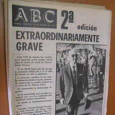 Coleccionismo de Revistas y Periódicos: PERIODICO A B C,29 DE OCTUBRE 1975, EXTRAORDINARIAMENTE GRAVE. Lote 28671520