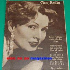 Coleccionismo de Revistas y Periódicos: CINE Y RADIO Nº19/1954 ZSA ZSA GABOR~SUSAN HAYWARD~BOBBY DEGLANE~HELGA LINE~MUY RARA. Lote 28677751