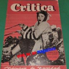 Coleccionismo de Revistas y Periódicos: CRITICA Nº 13/1950 ANNE BAXTER~SHIRLEY TEMPLE~CECILIA A. MANTUA~ARMANDO MATIAS GUIU~NAVIDAD. Lote 103442018