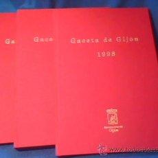 Coleccionismo de Revistas y Periódicos: LA GACETA DE GIJON. LOTE DE 3 TOMOS CON LAS REVISTAS DE LOS AÑOS 1996, 1997 Y 1998. COMO NUEVAS.. Lote 28777543