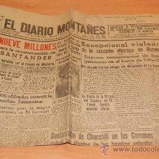 Coleccionismo de Revistas y Periódicos: PERIODICO EL DIARIO MONTAÑES /CANTABRIA /7 JULIO 1944 GUERRA MUNDIAL Y NOTICIAS . Lote 28823653
