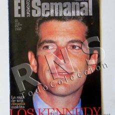 Coleccionismo de Revistas y Periódicos: REVISTA - EL SEMANAL 1998 - LOS KENNEDY - JOHN JACQUELINE ROBERT FAMILIA DINASTÍA - ISLAS CAIMÁN. Lote 28826611