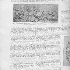 Coleccionismo de Revistas y Periódicos: REVISTA.AÑO 1893.TRANVIA QUITANIEVES.REUS. MONUMENTOS AL GENERAL PRIM.RELIEVE.LUIS PUIGJENER.. Lote 28877975