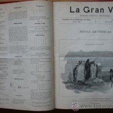 Coleccionismo de Revistas y Periódicos: LA GRAN VÍA. REVISTA SEMANAL ILUSTRADA. Nº 1, 2 DE JULIO DE 1893, A Nº 52, 24 JUNIO DE 1894.. Lote 29062519