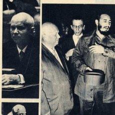 Coleccionismo de Revistas y Periódicos: FIDEL CASTRO 1960 NACIONES UNIDAS HOJA REVISTA. Lote 29084793