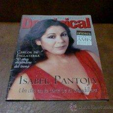 Coleccionismo de Revistas y Periódicos: REV.DOMINICAL 11/1998 - ISABEL PANTOJA-AMPLIO RPTJE- ELLA BAILA SOLA,PRINCIPE DE GALES,IAN ANDERSON. Lote 33090029