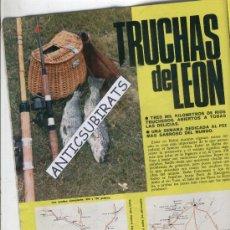 Coleccionismo de Revistas y Periódicos: REVISTA.AÑO 1970. LAS TRUCHAS DE LEON.PESCA.LA BAÑEZA.BOCA DE HUERGANO.PICOS DE EUROPA.RIAÑO.YUSO.. Lote 29171633
