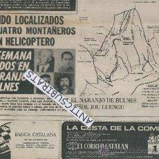Coleccionismo de Revistas y Periódicos: PERIODICO.AÑO 1970.RESCATE DE MONTAÑEROS.ALPINISTAS.NARANJO DE BULNES.PICOS DE EUROPA.CABRALES.,. Lote 38007402