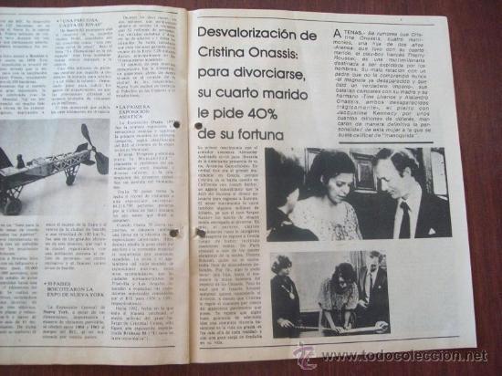 Coleccionismo de Revistas y Periódicos: BUSTER KEATON, MUSSOLINI, ONASSIS, DALI - URUGUAY 1987 - REVISTA, MAGAZINE. - Foto 4 - 29221662