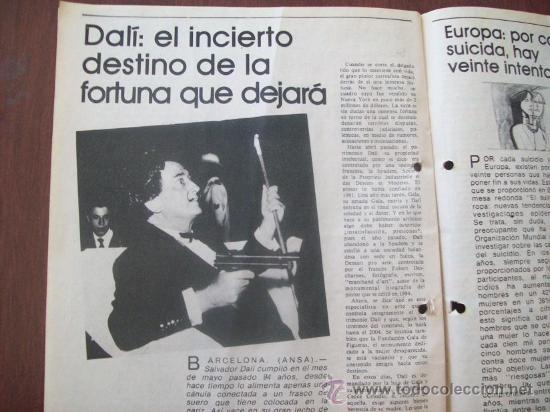 Coleccionismo de Revistas y Periódicos: BUSTER KEATON, MUSSOLINI, ONASSIS, DALI - URUGUAY 1987 - REVISTA, MAGAZINE. - Foto 5 - 29221662