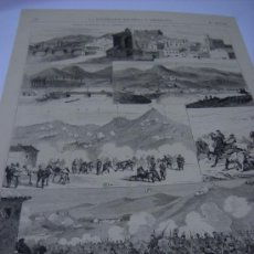 Collezionismo di Riviste e Giornali: GUERRA CARLISTA.- MIRANDA DE EBRO. COMBATE DE URNIETA, VISTA DESDE EL CAMINO DE ANDOAIN.1874 GRABADO. Lote 29350680