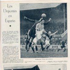 Coleccionismo de Revistas y Periódicos: FUTBOL 1930 BARCELONA BETIS HOJA REVISTA. Lote 29394484