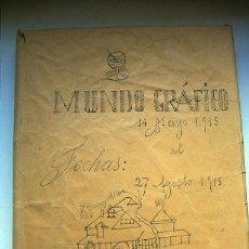 Coleccionismo de Revistas y Periódicos: MUNDO GRÁFICO 14 DE MAYO AL 27 DE AGOSTO DE 1913 ENCUADERNADO. Lote 29455693
