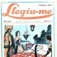 Coleccionismo de Revistas y Periódicos: LLEGIU-ME ANY I Nº 1 - OCTUBRE 1926 -EN CATALÁN. Lote 29464201