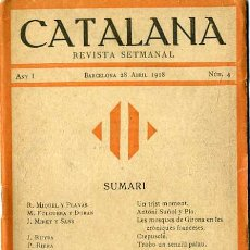 Coleccionismo de Revistas y Periódicos: CATALANA Nº4 REVISTA SETMANAL - ABRIL 1918 -EN CATALÁN. Lote 29464273