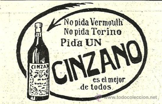 PUBLICIDAD CINZANO - 1916 (Coleccionismo - Revistas y Periódicos Antiguos (hasta 1.939))