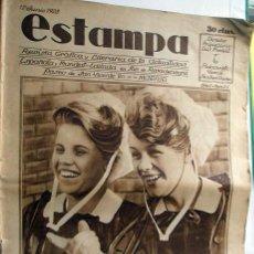 Coleccionismo de Revistas y Periódicos: REVISTA ESTAMPA 12 JUNIO 1928. Lote 29578009