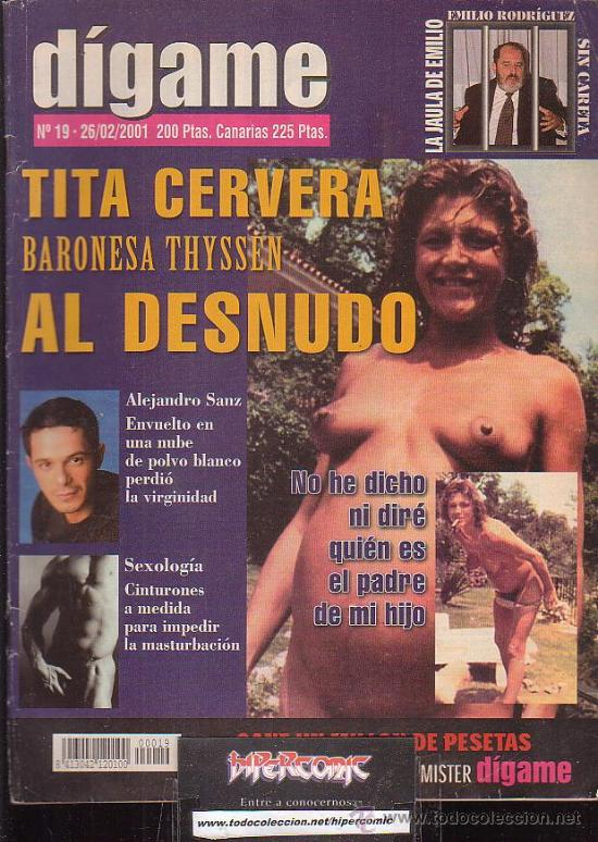 Digame Nº 19 Tita Cervera Al Desnudo Polemica Sold Through Direct