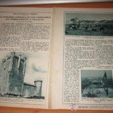 Coleccionismo de Revistas y Periódicos: LA POSTRERA JORNADA DE LOS COMUNEROS DE TORRELOBATON A VILLALAR 2 HOJAS REVISTA BLANCO Y NEGRO 1925 . Lote 29611062