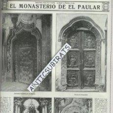 Coleccionismo de Revistas y Periódicos: REVISTA.AÑO 1919.COLEGIATA DE SAN PEDRO. EN SORIA.COLEGIATA.MONASTERIO DEL PAULAR.. Lote 29666536