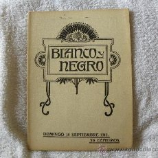 Coleccionismo de Revistas y Periódicos: BLANCO Y NEGRO DOMINGO 14 SEPTIEMBRE 1913. Lote 29668148