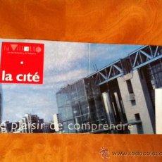 Coleccionismo de Revistas y Periódicos: ENTRADA . PARC DE LA LA VILLETTE . LA CITÉ. 1991. Lote 29745353