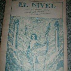 Coleccionismo de Revistas y Periódicos: EL NIVEL, Nº 18 - ORGANO DE LA MASONERIA UNIVERSAL (REVISTA) - ARGENTINA - 1944 - RARO!. Lote 29745511