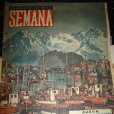 Coleccionismo de Revistas y Periódicos: REVISTA SEMANA. ABRIL 1940 - HERNAN CORTES, NARVIK, DINAMARCA Y NORUEGA, QUEEN ELIZABETH, INULUD. Lote 29785352