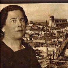 Coleccionismo de Revistas y Periódicos: GALLUR 1936 ZARAGOZA MARIA DOMINGUEZ ALCALDESA HOJA REVISTA. Lote 287428943