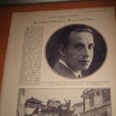 Coleccionismo de Revistas y Periódicos: EL ACTOR COMICO ANTONIO SUAREZ RECIENTEMENTE FALLECIDO HOJA DE REVISTA BLANCO Y NEGRO 1929. Lote 29891757