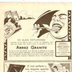 Coleccionismo de Revistas y Periódicos: RECORTE PRENSA.AÑO 1932.PUBLICIDAD.ARROZ GRANITO.RADIO FONOGRAFO.ATWATER KENT.. Lote 29899041