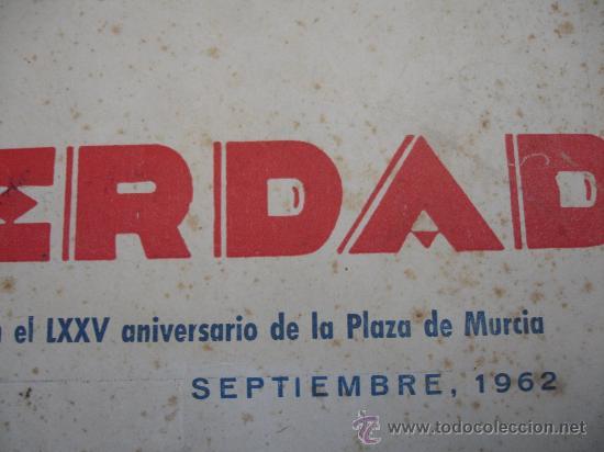 Coleccionismo de Revistas y Periódicos: periódico la verdad especial toros murcia 1962 - Foto 2 - 29913453