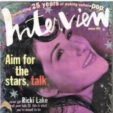 Coleccionismo de Revistas y Periódicos: ANDY WARHOL'S INTERVIEW MAGAZINE JANUARY 1994. Lote 29915208