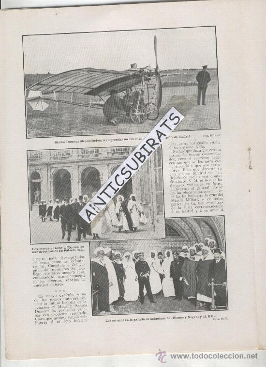 REVISTA 1910 DUQUE DE NAJERA.AVIACION AVION.SANTOS DUMONT EN MADRID LAGARTIJO RCD ESPAÑOL FUTBOL (Coleccionismo - Revistas y Periódicos Antiguos (hasta 1.939))