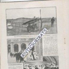 Coleccionismo de Revistas y Periódicos: REVISTA 1910 DUQUE DE NAJERA.AVIACION AVION.SANTOS DUMONT EN MADRID LAGARTIJO RCD ESPAÑOL FUTBOL. Lote 29944311