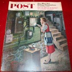 Coleccionismo de Revistas y Periódicos: REVISTA - THE SATURDAY EVENING POST - 28 ENERO 1956 - ORIGINAL EN INGLÉS. Lote 30035425