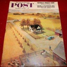 Coleccionismo de Revistas y Periódicos: REVISTA - THE SATURDAY EVENING POST - 26 NOVIEMBRE 1955 - ORIGINAL EN INGLÉS. Lote 30035428