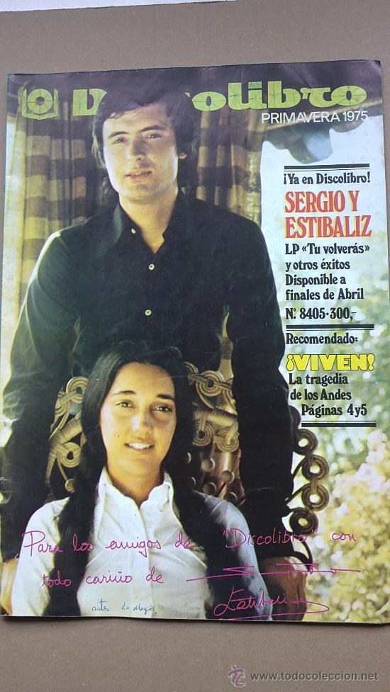 &REVISTA--DISCO LIBRO.AÑO 1975.SERGIO Y ESTIBALIZ. (Coleccionismo - Revistas y Periódicos Modernos (a partir de 1.940) - Otros)
