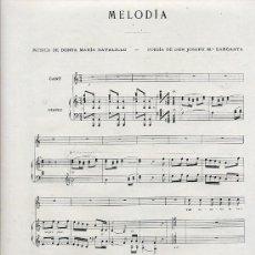 Coleccionismo de Revistas y Periódicos: PARTITURA 1911 MELODIA 2 HOJAS REVISTA. Lote 30098772