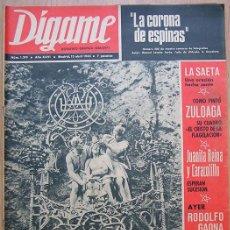 Coleccionismo de Revistas y Periódicos: REVISTA DÍGAME 1965. LA SAETA. JUANITA REINA CARACOLILLO. ANTONIO MACHIN. MACARENA DEL RIO. P. TEROL. Lote 30113161