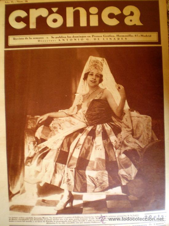 REVISTA CRÓNICA AÑO 1930 CUENCA - GIJÓN VER FOTOS (Coleccionismo - Revistas y Periódicos Antiguos (hasta 1.939))