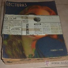 Sammeln von Zeitschriften und Zeitungen - Lote de 5 revistas Lecturas de 1933 - 30149705